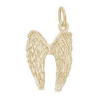 Rembrandt Angel Wings Charm, Gold Plated Silver