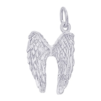 Rembrandt Angel Wings Charm, Sterling Silver