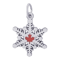 Rembrandt Canadian Snow Flakes Charm, Sterling Silver