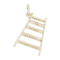 Rembrandt Ladder of Success Charm, Gold Plated Silver
