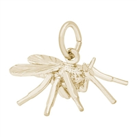 Rembrandt Mosquito Charm, Gold Plated Silver