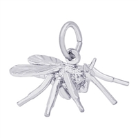 Rembrandt Mosquito Charm, Sterling Silver