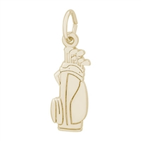 Rembrandt Golf Bag Charm, Gold Plated Silver