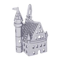 Rembrandt Castle Charm, Sterling Silver