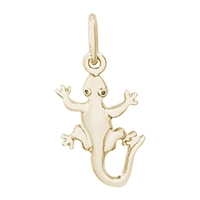 Rembrandt Gecko Charm, Gold Plated Silver