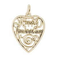 Rembrandt Anniversary Charm, Gold Plated Silver