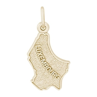 Rembrandt Luxembourg Map Charm, 10K Yellow Gold