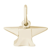 Rembrandt Anvil Charm, Gold Plated Silver