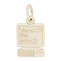 Rembrandt Email Charm, Gold Plated Silver