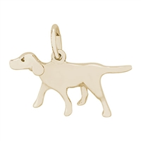 Rembrandt Retriever Charm, Gold Plated Silver