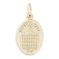 Rembrandt Faneuil Hall Charm, Gold Plated Silver
