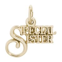 Rembrandt Special Sister Charm, Gold Plated Silver