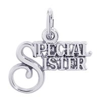 Rembrandt Special Sister Charm, Sterling Silver