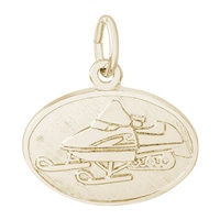 Rembrandt Snowmobile Charm, Gold Plated Silver