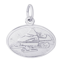 Rembrandt Snowmobile Charm, Sterling Silver
