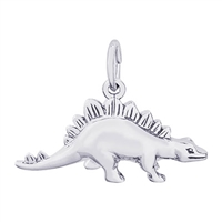 Rembrandt Stegosaurus Charm, Sterling Silver