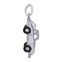 Rembrandt Sports Car Charm, 14K White Gold
