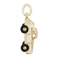 Rembrandt Sports Car Charm, 10K Yellow Gold