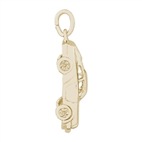 Rembrandt Sports Car Charm, 14K Yellow Gold