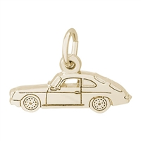 Rembrandt Sports Car Charm, Gold Plated Silver