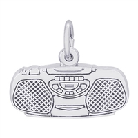 Rembrandt Boom Box Charm, Sterling Silver