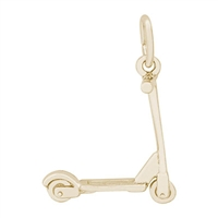 Rembrandt Scooter Charm, Gold Plated Silver