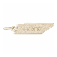 Rembrandt Tennessee Map Charm, Gold Plated Silver