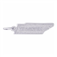 Rembrandt Tennessee Map Charm, Sterling Silver