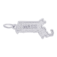 Rembrandt Massachusetts Charm, 14K White Gold