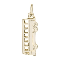Rembrandt Bus Charm, Gold Plated Silver