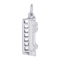 Rembrandt Bus Charm, Sterling Silver