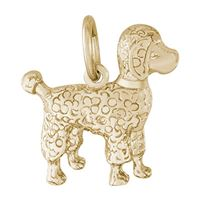 Rembrandt Poodle Charm, Gold Plated Silver