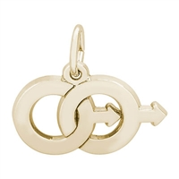 Rembrandt Male Twins Charm, Gold Plated Silver