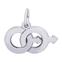 Rembrandt Male Twins Charm, Sterling Silver