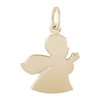 Rembrandt Angel Charm, Gold Plated Silver
