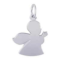 Rembrandt Angel Charm, 14K White Gold