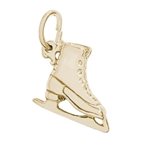 Rembrandt Ice Skate Charm, Gold Plated Silver