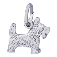 Rembrandt Scottie Dog Charm, Sterling Silver
