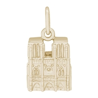 Rembrandt Notre Dame Charm, Gold Plated Silver
