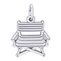 Rembrandt Directors Chair Charm, Sterling Silver