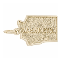 Rembrandt Washington Charm, Gold Plated Silver