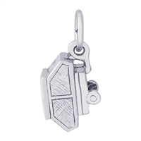 Rembrandt Tent Trailer Charm, Sterling Silver