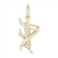 Rembrandt Cricket Charm, Gold Plated Silver