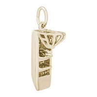 Rembrandt Air Boat Charm, Gold Plated Silver
