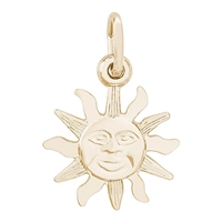 Rembrandt Panama Small Sun Charm, 10K Yellow Gold