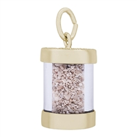 Rembrandt Panama Sand Capsule Charm, Gold Plated Silver