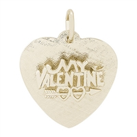 Rembrandt Be My Valentine Charm, Gold Plated Silver