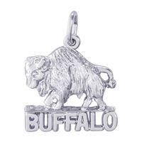 Rembrandt Buffalo New York Charm, Sterling Silver