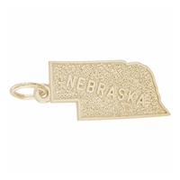 Rembrandt Nebraska Charm, 14K Yellow Gold