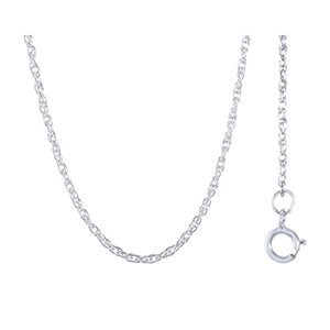 "16"" Rope Chain w/ Spring Ring Clasp , Sterling Silver"